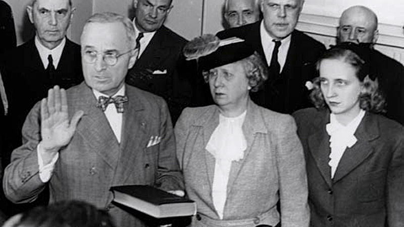 Truman takes Oath of Office