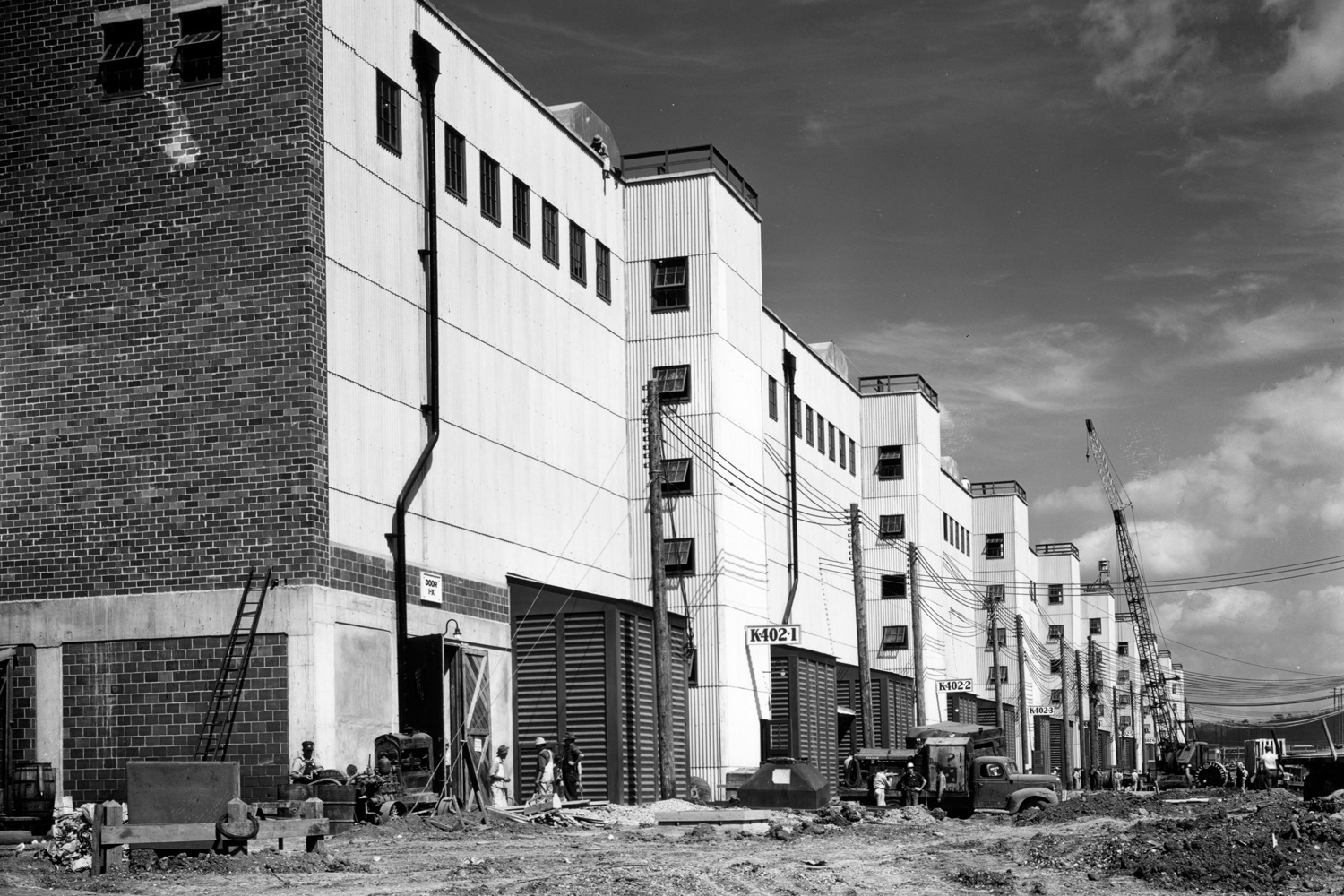 K-27 Building nearing completion in late 1945
