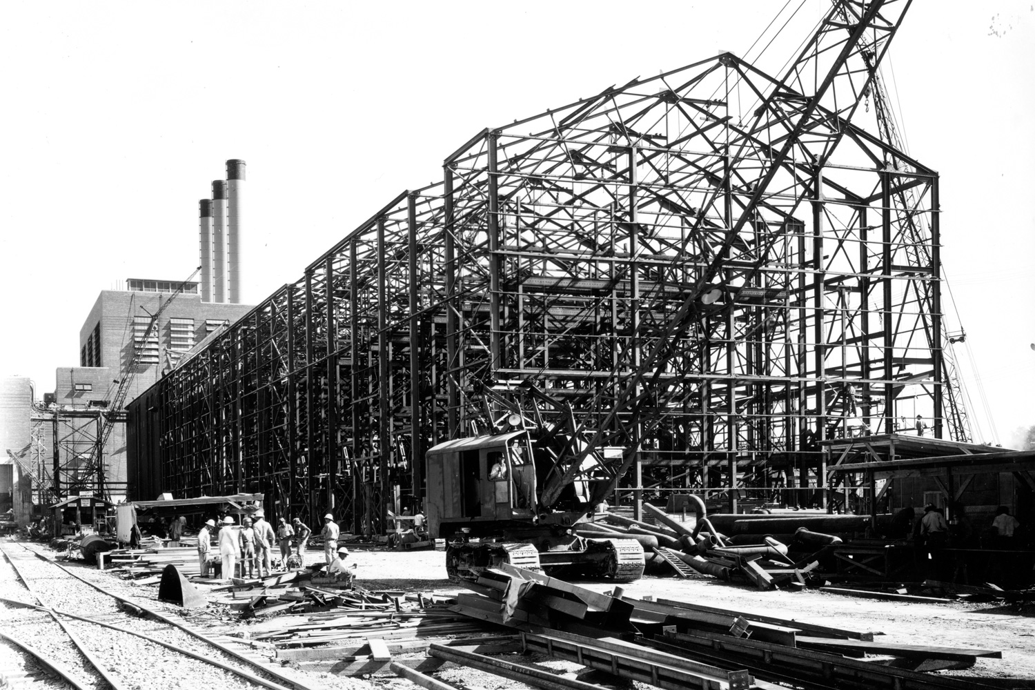 S-50 process building F-01 under construction