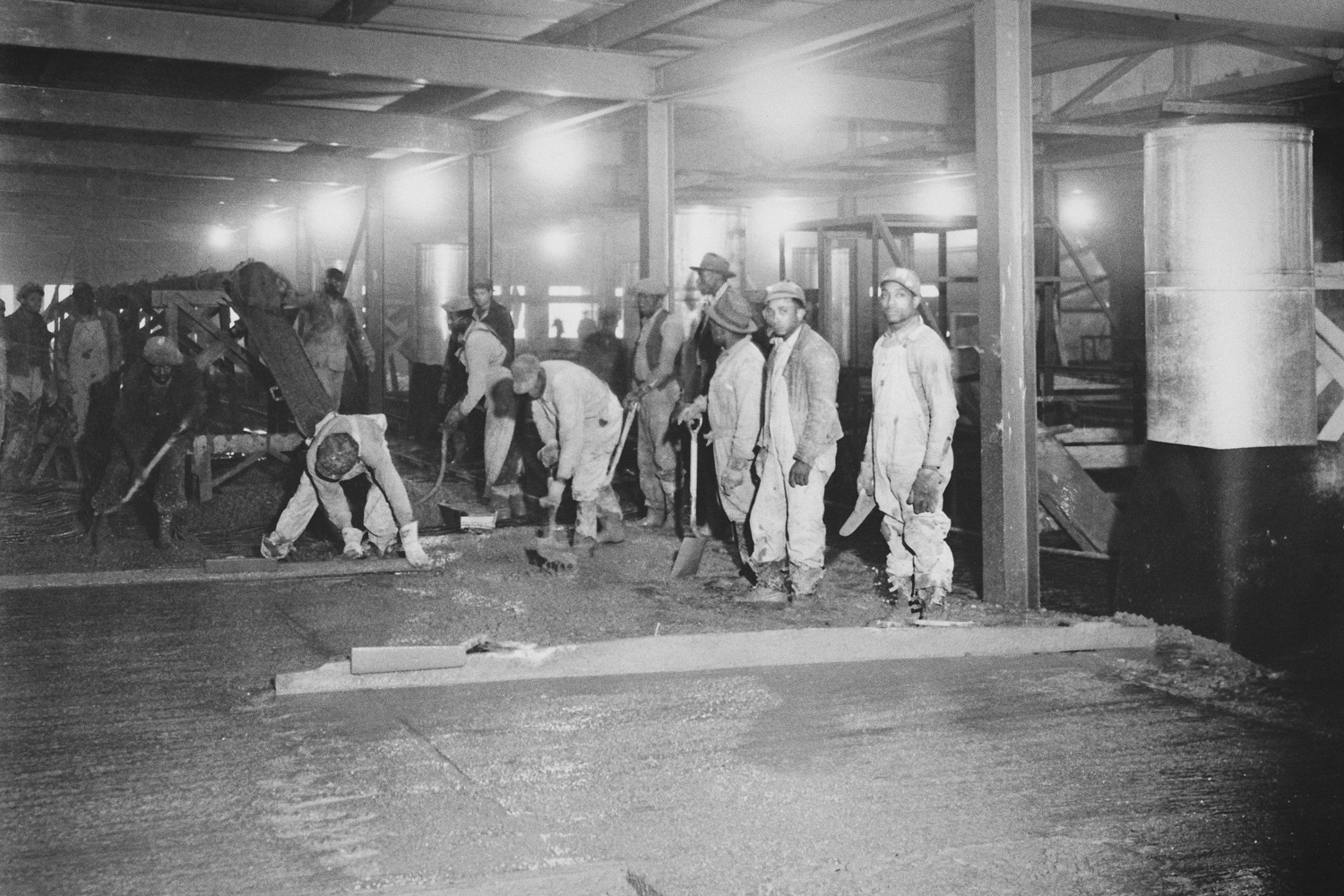 Concrete Workers pouring Operating Floor in K-25 Building