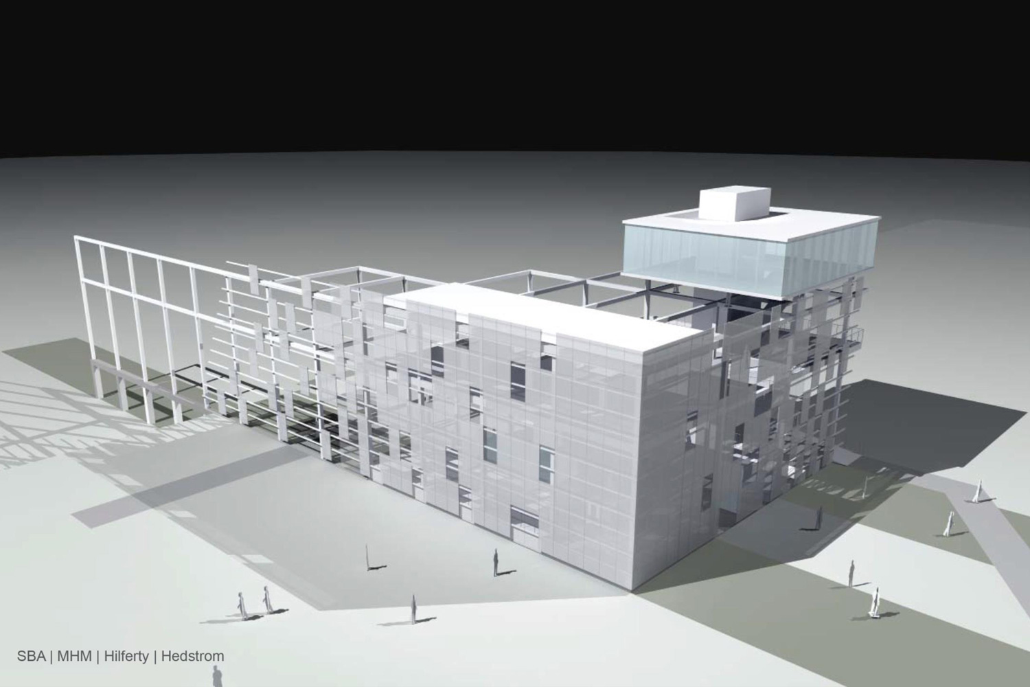 K-25 Equipment Building - Viewing Tower (Front View Rendering)